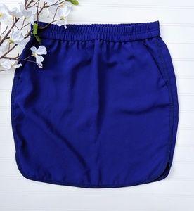 J. Crew Royal Blue Elastic Waisted Skirt